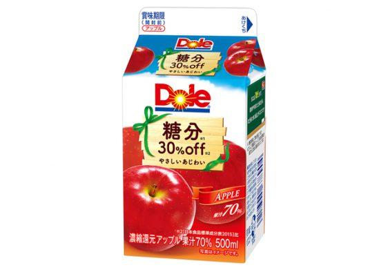 雪印メグミルク/糖分ひかえめ「Dole 糖分30%off アップル」