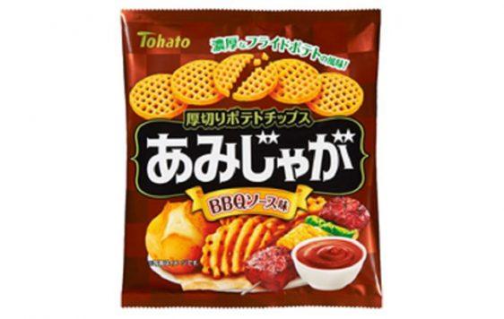 東ハト/トマトの甘味とビーフの旨味「あみじゃが BBQソース味」