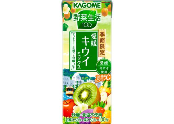 カゴメ/1日分のビタミンC入り「野菜生活100 愛媛キウイミックス」