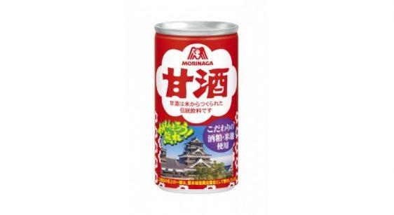 森永甘酒/熊本城デザインパッケージの売上を熊本城復興に寄付