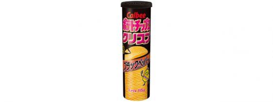 カルビー/「ポテトチップスクリスプ ブラックペッパー味」発売